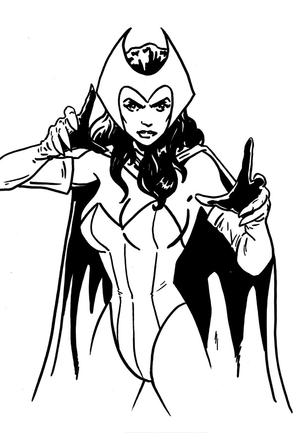 enchantress marvel coloring pages - photo#16