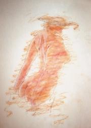 Nude female back