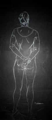 Female hands behind back