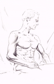 Nude male relaxing