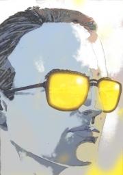 Self portrait blue