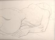 Life drawing female flat