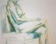 Nude female sitting