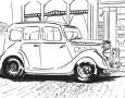 old car sketch